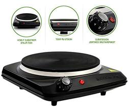 Happy Cooking with Countertop Electric Cast-Iron Burner with