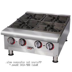"APW Wyott HHP-636I 36"" Countertop Gas Cookline Hotplate - 6"