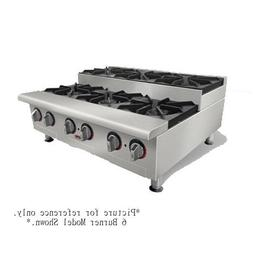 "APW Wyott HHPS-424I 24"" 4 Burner Stepped Countertop Cookline"