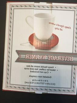 Holiday Collection Red Beverage Warmer Coffee Tea Soup Burne