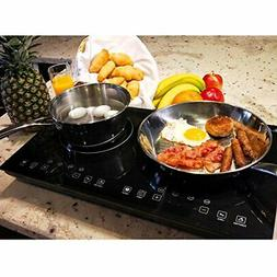 Evergreen Home 1800W Double Digital Induction Cooktop | Port