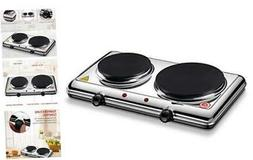 Homeleader Hot Plate for Cooking Electric, Double Burner wit