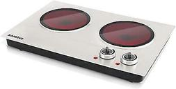 Cusimax Hot Plate Electric Double Burner Ceramic Infrared Po