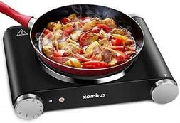 Cusimax Hot Plate Portable Electric Stove Countertop Single
