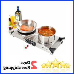 Hot Plates Double Cast Iron Burner Portable Electric Stove C