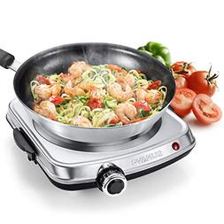 Hot Plates for Cooking 1500W Electric Single Burner with Han
