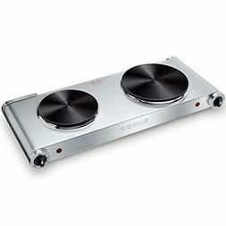 SUNAVO Hot Plates for Cooking Electric Burner, 1800W Portabl