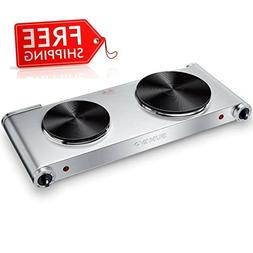 Hot Plates for Cooking Portable Electric Double Burner 1800W