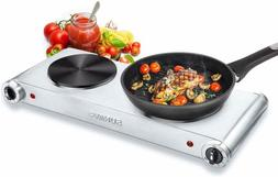 SUNAVO Hot Plates for Cooking Portable Electric Double Burne