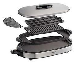 Panasonic Hot Plates Silver NF-W300-S Grill Pot Okonomiyaki