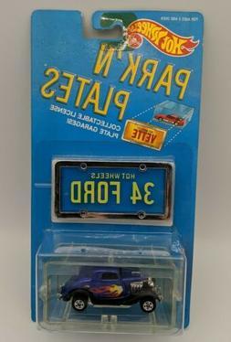 Mattel Hot Wheels Park'n Plates 34 Ford 3-window Blue NEW Se