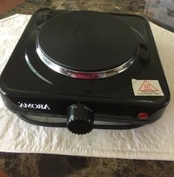 Aroma  Housewares Single  Hotplate Black Ahp 303 Chp 303 New