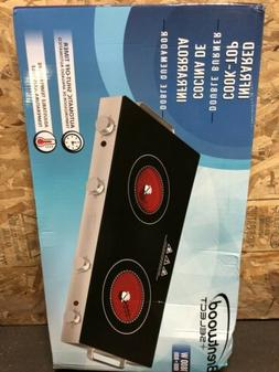 Induction Cooktop Double 2 Burner Electric Hot Plate Infrare