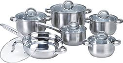 New Heim's 12 Pieces Cooking Pots and Pans Cookware Set Kitc