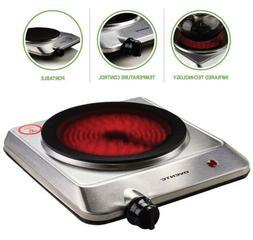 Ovente Infrared Burner Ceramic Glass Electric Single Hot Pla
