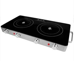 Infrared Electric Double Burner Ceramic Glass Kitchen Portab