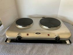 Oster Inspire Double Burner and Hot plate, Stainless Steel