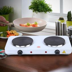 Electric Double Burner Hot Plate Heating Cooking Stove Dorm