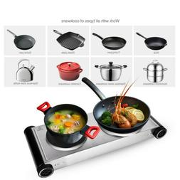 Kitchen Electric Double Burner Hot Plate Portable Cooking St