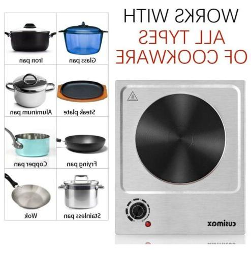 CUSIMAX 1500W Plate, Plate Cooking Electric Single