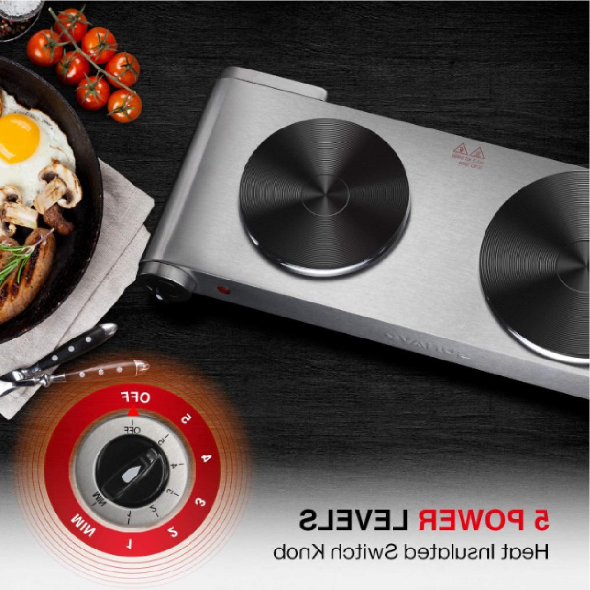 1800W Electric Double 5 Levels Cast-Iron