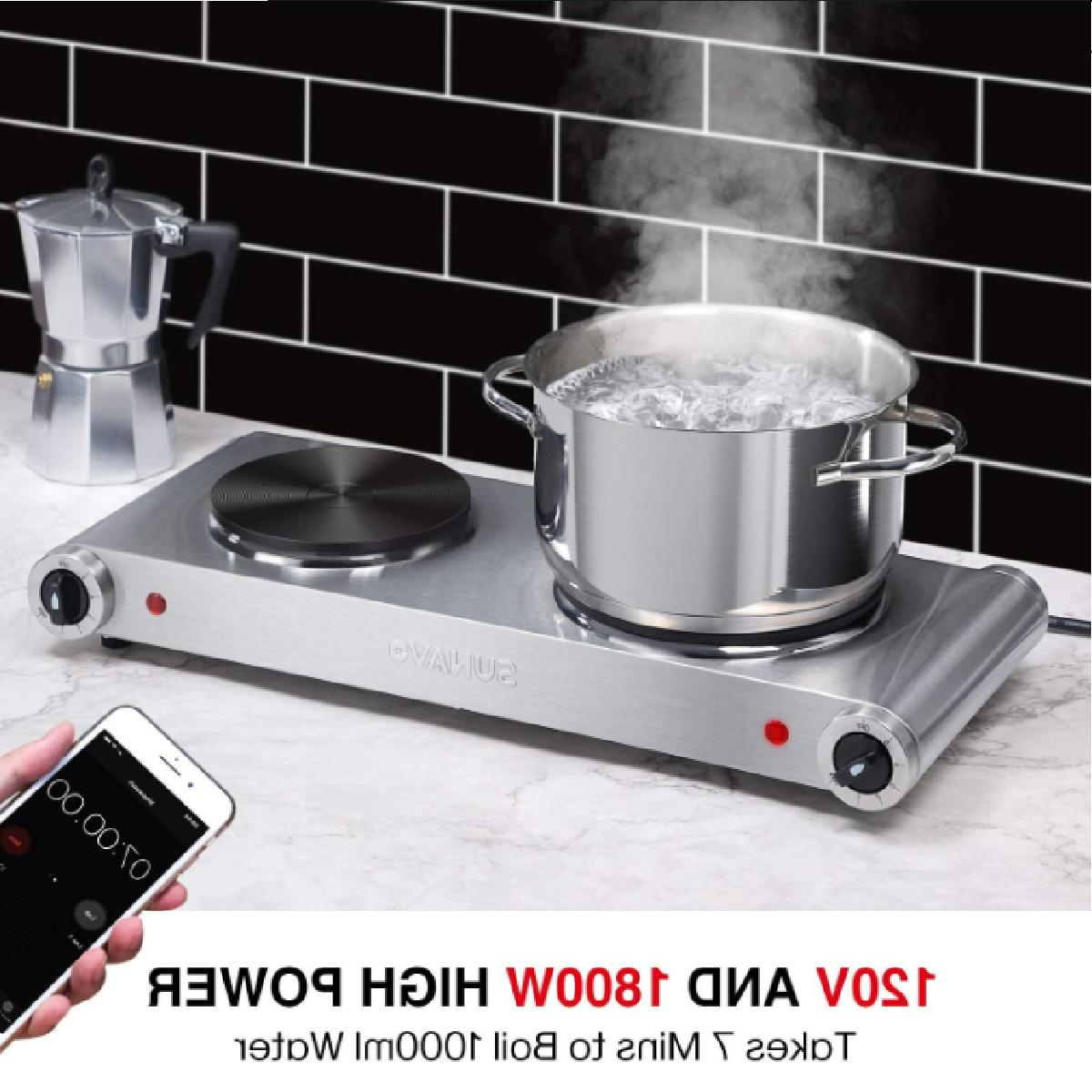 1800W Hot Portable Electric Double Levels St