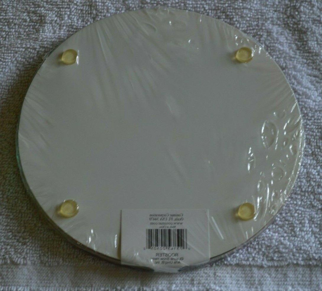 2 Plates/Trivets Glass Dishwasher Safe -