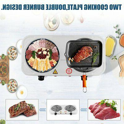 2000w Electric Burner Hot Plate Heating Cooking Stove Portable Dorm