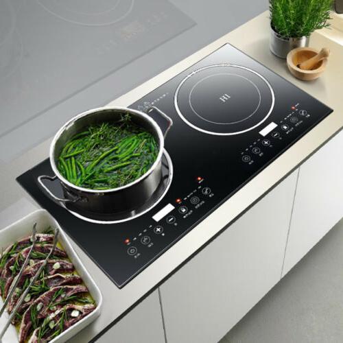 2400W Electric Cooker Burner Cooktop Digital Plate