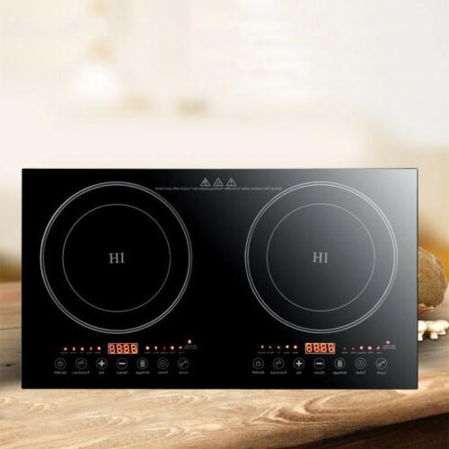 2400w electric dual induction cooker portable burner