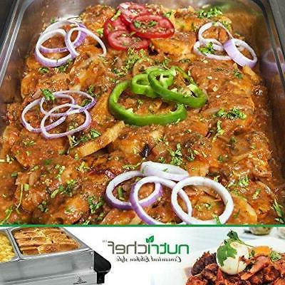 NutriChef 3 Buffet Server - Hot Plate Quart