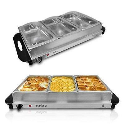 NutriChef Buffet Server - Hot Plate Pot Quart
