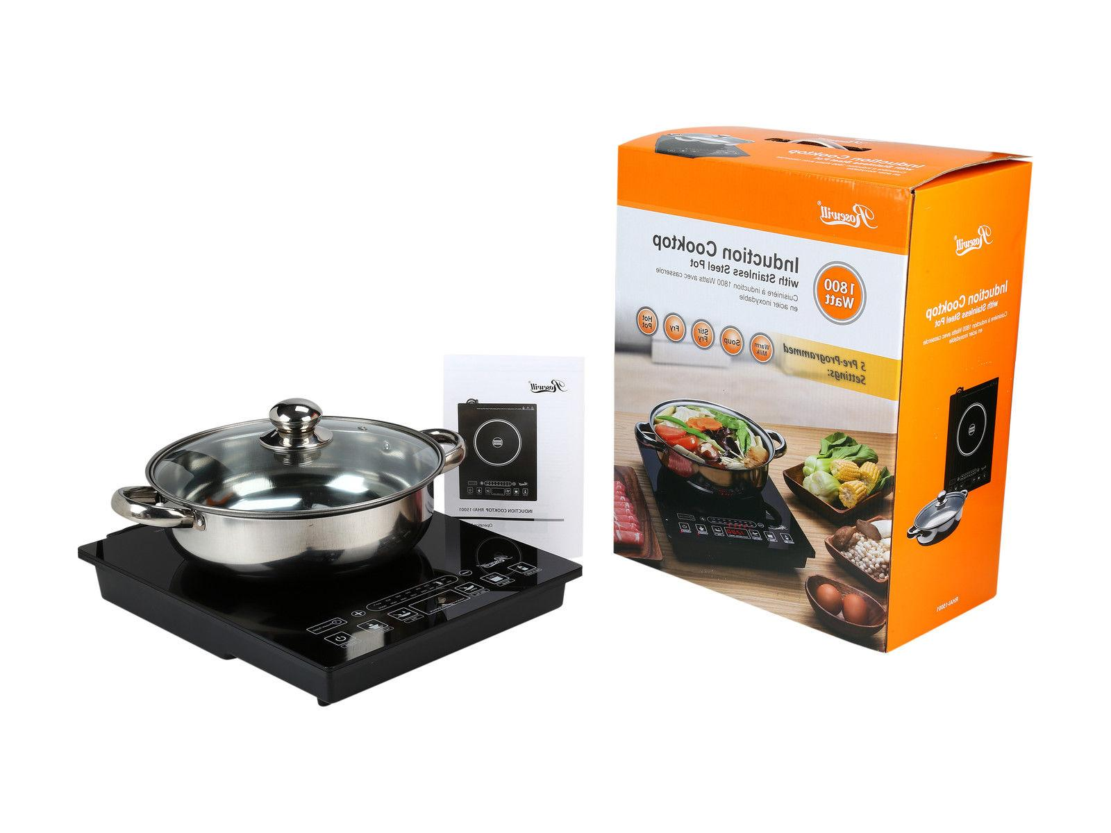 Rosewill 1800-Watt Settings Induction Cooker with