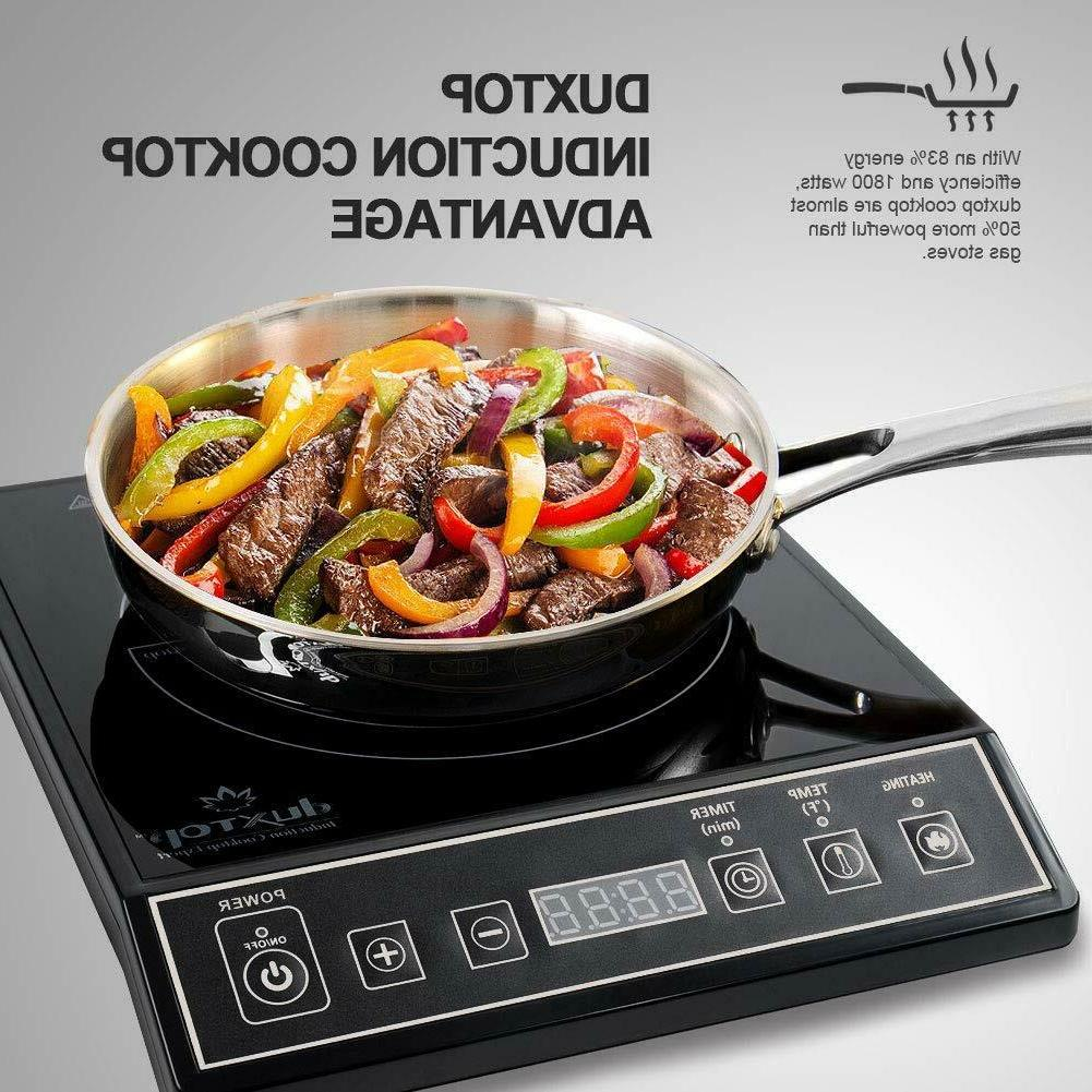 Portable Induction Countertop Burner Black Free Day