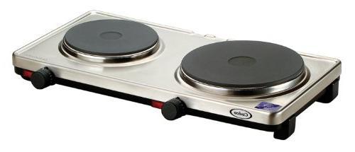 Cadco DKR-S2 Portable Double Cast Iron 120-Volt Hot Plate