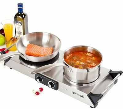 DUXTOP 1800W Portable Electric Cast Iron Cooktop Countertop