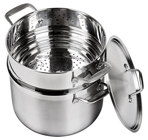 Duxtop Whole-Clad Tri-Ply Set, Stainless