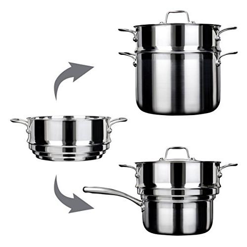 Duxtop SSC-14PC 14 Piece Whole-Clad Induction Set, Stainless Steel