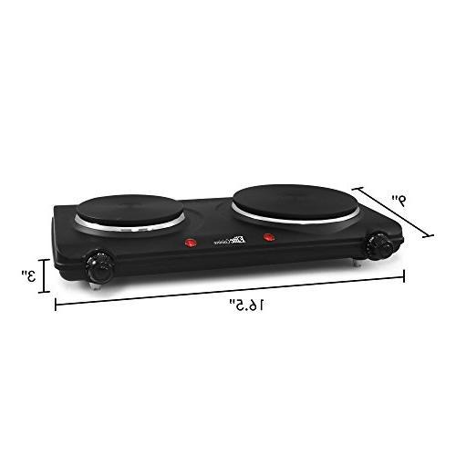 Elite Cuisine Electric Dual Temperature Controls, Indicator Easy Clean 1440