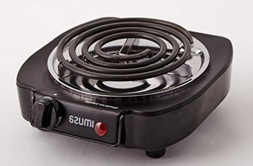 IMUSA USA GAU-80305 Single Burner 1100-Watts,