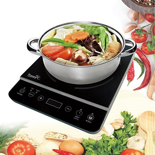 "Rosewill Induction 1800 Watt, Cooktop, Burner with Stainless Pot 10"" 3.5 18-8,"