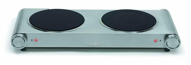 Salton HP1269 Double Burner Infrared Cooking Range, Stainles