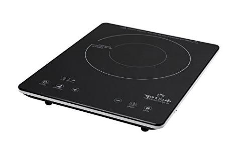 "Secura UltraThin Glass Portable Sensor Touch Countertop Burner, Black, 11.5"" x 1.75"""