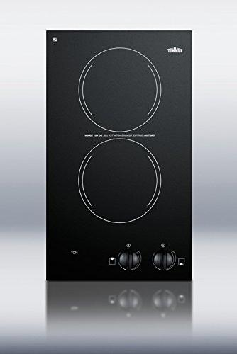 Summit CR2110 115V Electric Cooktop with 2 Burners, 12-Inch