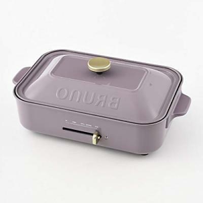 BRUNO Compact Hot Plate Purple BOE021 Plane/Takoyaki Plates