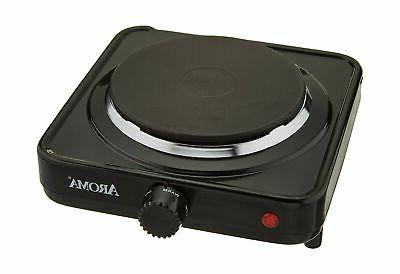 Aroma Housewares AHP-303/CHP-303 Single Hot Plate, Black -