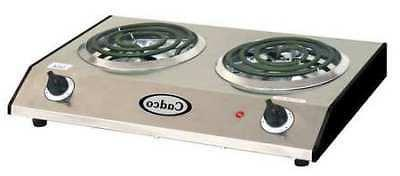 Cadco Brc-D1n Double Hot Plate,1650 Watts
