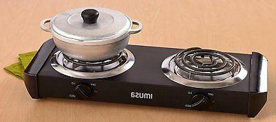 Burner Two Stove Electric Double