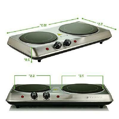 Cooktop Burner Electric Plate 2 Ceramic Burners