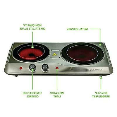 Cooktop Double Electric 2 Burners